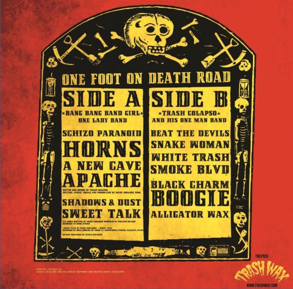 LP. Bang Bang Girl & Trash Colapso : One Foot On Death Road.  Ltd Edition.
