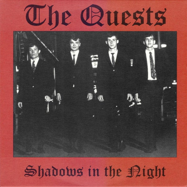 """7"""".  The Quests : Shadows In The Night.  Ltd edition clear vinyl."""