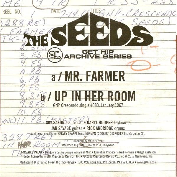 """7"""". The Seeds : Mr Farmer.    Ltd edition."""