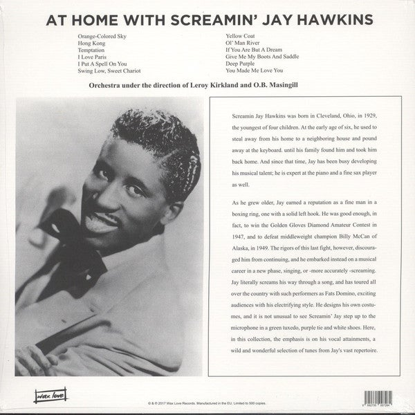 LP. Screamin' Jay Hawkins : At Home With.    Special Offer.