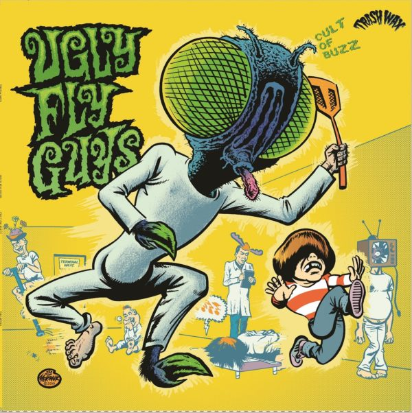 LP. The Ugly Fly Guys : Cult Of Buzzz.  Ltd Edition Yellow splatter vinyl.