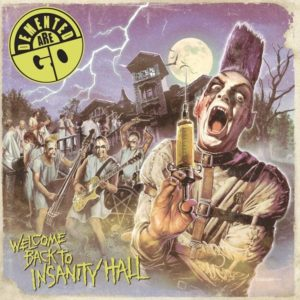 LP. Demented Are Go : Welcome Back To Insanity Hall.  Coloured swirl vinyl.