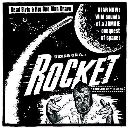 """7"""". Dead Elvis : Riding On A Rocket / Strollin On The Moon.  Ultra Ltd."""