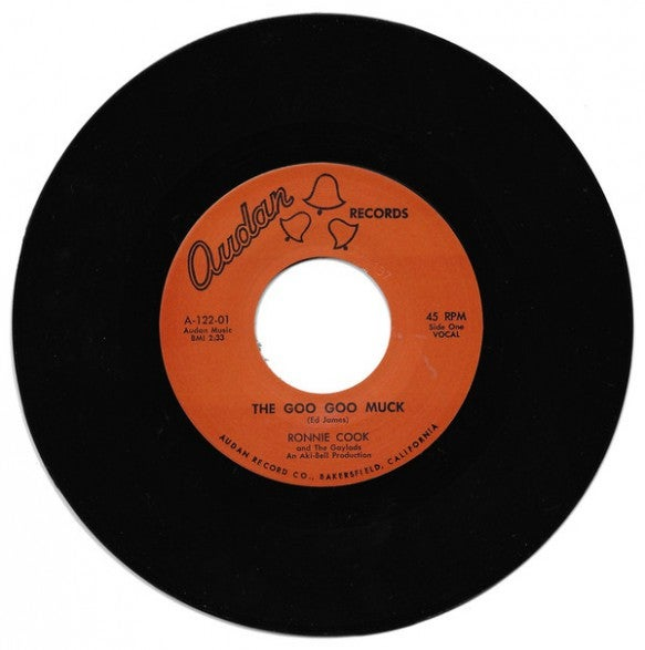 """7"""" Repro. Ronnie Cook & The Gaylads : Goo Goo Muck.   Ltd Edition."""