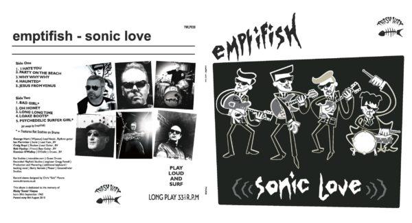 LP. Emptifish  : Sonic Love.   Ltd Edition Trash Wax release, coloured vinyl.