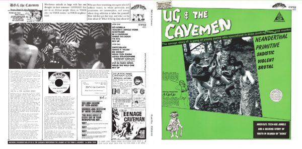LP + DVD. Ug & The Cavemen : S/T.  Ltd Edition Gatefold, coloured vinyl, bonus tracks + DVD