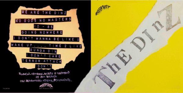 LP. The Dinz  :  S/T.     Ltd Edition Trash Wax release. Yellow vinyl.