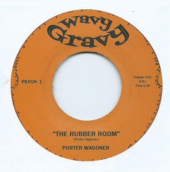"7"" Split single. Eddie Noack : Psycho / Porter Waggoner : Rubber Room"