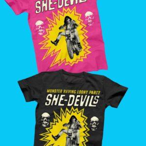 T-Shirt.  : Ladies She-Devils T-Shirt.