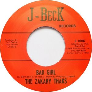 "7"" The Zakary Thaks : Bad Girl / I Need You."