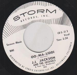 "7"" JJ. Jackson & The Jackaels : Oo-Ma-Liddi"