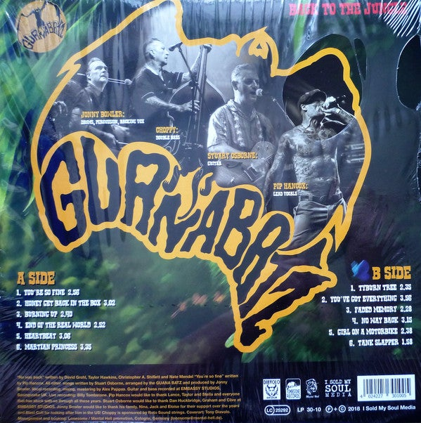 LP. Guana Batz : Back To The Jungle.  Ltd Edition White vinyl.
