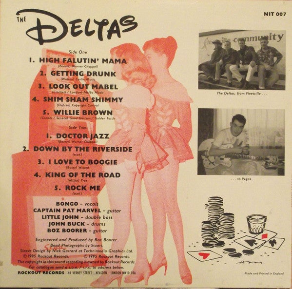 """10"""". The Deltas : From Fleetsville to Vegas.     Wharehouse find."""