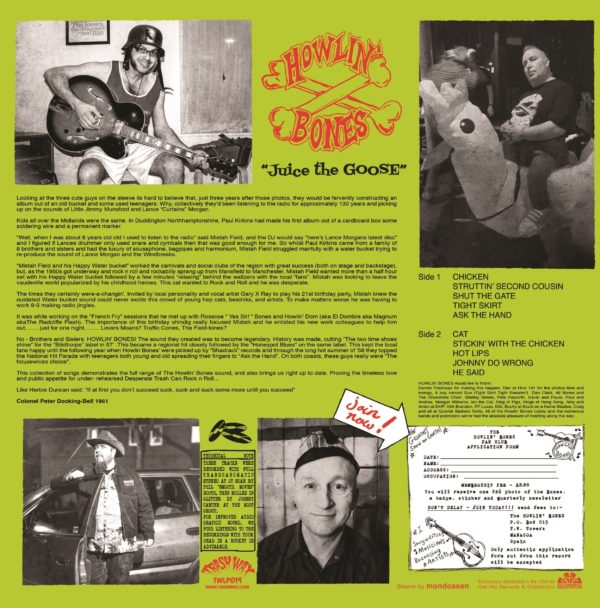 Out Now. LP The Howlin' Bones : Juice The Goose. Limited Edition.