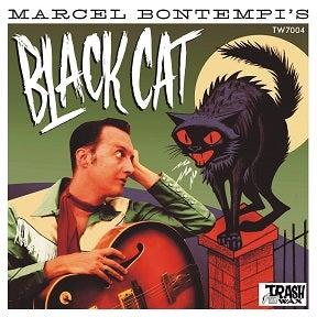 "7"" EP Marcel Bontempi : Black Cat EP.  Black Vinyl."