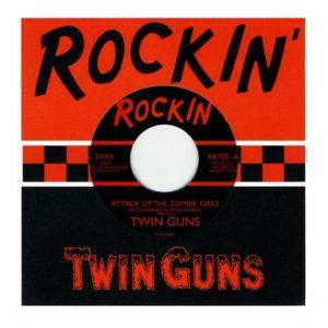 "7"" Twin Guns : Attack Of The Zombie Girls. Ltd edition, Claret vinyl."