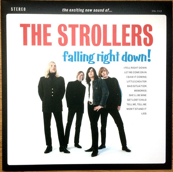 LP. The Strollers : Falling Right Down.  Ltd Re-Edition.