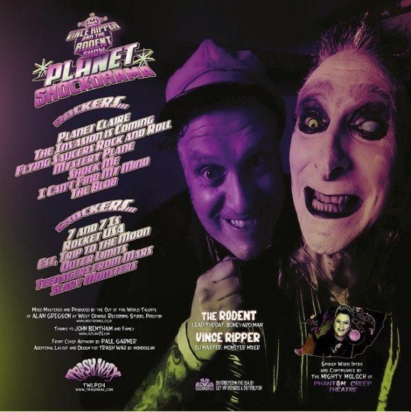 OUT NOW LP Vince Ripper & Rodent Show : Planet Shockarama. Ltd Edition.