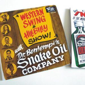 CD Dr Bontempi's Snake Oil Co : Western Swing & Hillbilly Show.  (Re-edition).