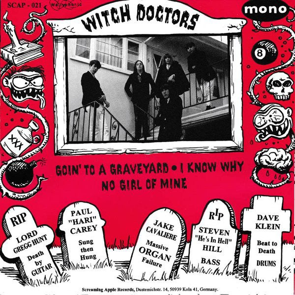 """7"""" The Witch Doctors : Goin To A Graveyard"""