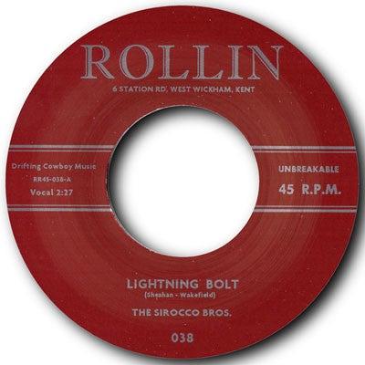 """7"""" The Sirocco Bros : Lightning Bolt / Devil Bones."""