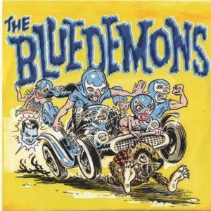 "7"" The Blue Demons : Cougar Country.  Ltd Edition Blue Vinyl."