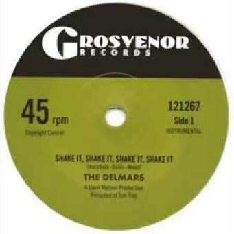 "7"" The Delmars : Shake It, Shake It, Shake It !  Ltd Edition White Vinyl."