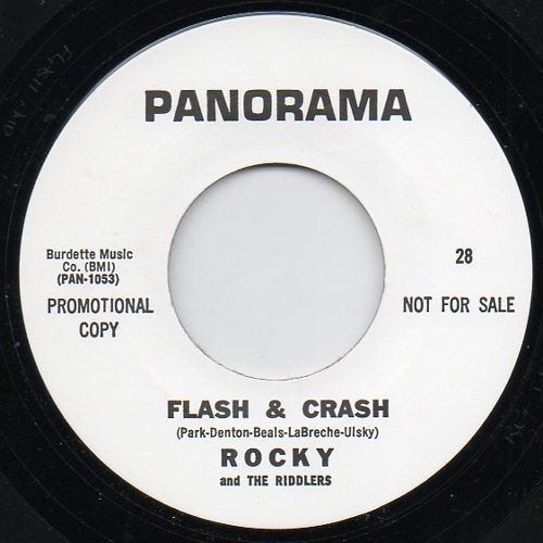 """7"""" Rocky & The Riddlers : Flash and Crash / Batman.  BFTG classic."""